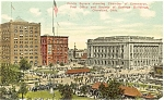 Click here to enlarge image and see more about item p4300: Cleveland OH Public Square Postcard p4300