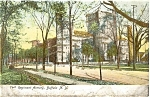 Buffalo NY The Armory Glitter Postcard p4327