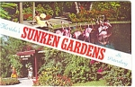 Click here to enlarge image and see more about item p4330: Sunken Gardens Souvenir Folder Postcard