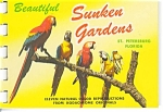 Click here to enlarge image and see more about item p4337: Sunken Gardens Souvenir Folder Postcard