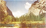 Click here to enlarge image and see more about item p4357: Yosemite Valley CA Postcard