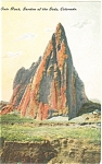 Click here to enlarge image and see more about item p4358: State Rock Garden of the Gods CO Postcard