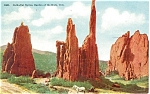 Click here to enlarge image and see more about item p4363: Cathedral Spires, CO Postcard 1911