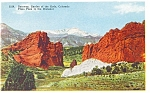 Click here to enlarge image and see more about item p4368: Gateway Garden of the Gods CO Postcard p4368