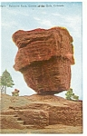 Click here to enlarge image and see more about item p4379: Balanced Rock Garden of The Gods CO Postcard p4379