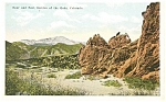 Click here to enlarge image and see more about item p4380: Bear and Seal Rocks Garden of The Gods CO Postcard p4380