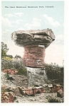 Giant Mushroom Rock, CO Postcard