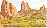 Click here to enlarge image and see more about item p4383: Garden of the Gods, CO Postcard
