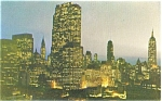 Midtown Manhattan at Night New York City Postcard p4440