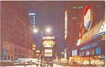 Times Square at Night New York City Postcard p4456