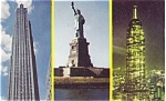 New York City Landmarks Postcard