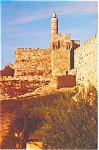 Click here to enlarge image and see more about item p4502: David Tower Jerusalem Israel Postcard p4502