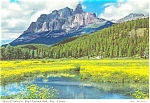 Mount Eisenhower Banff Canada Postcard