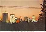 Click here to enlarge image and see more about item p4522: Dusk Over Downtown Edmonton Canada Postcard p4522
