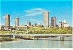 Click here to enlarge image and see more about item p4524:  MacDonald Bridge Edmonton Canada Postcard