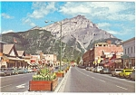 Click here to enlarge image and see more about item p4529: Banff Avenue Banff Canada Postcard p4529