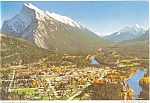 Click here to enlarge image and see more about item p4532: Banff and Mount Rundle Canada Postcard p4532