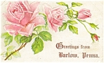Click here to enlarge image and see more about item p4538: Barlow PA Postcard p4538 1910