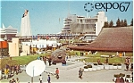 Click here to enlarge image and see more about item p4545: Expo 67 From Ile Norte Dame Postcard p4545