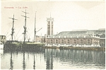 Click here to enlarge image and see more about item p4560: Ostende Belgium Harbor Postcard