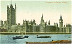 Click here to enlarge image and see more about item p4570: Houses of Parliment London Postcard