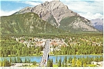 Click here to enlarge image and see more about item p4571: Banff Village Banff Canada Postcard p4571