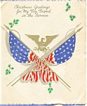 Click here to enlarge image and see more about item p4572: WWII Christmas Card To GI Postcard