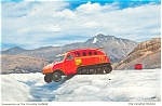 Click here to enlarge image and see more about item p4573: Snowmobile on The Columbia Icefields Postcard
