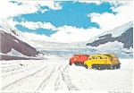 Click here to enlarge image and see more about item p4574: Snowmobile on The Columbia Icefields Postcard