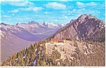 Click here to enlarge image and see more about item p4598: Tea House Sulphur Mountain, Canada Postcard