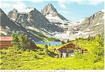 Click here to enlarge image and see more about item p4605: Mt Assiniboine, Canada Alt.11,870,Postcard