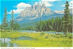 Click here to enlarge image and see more about item p4607: Mt Eisenhower  Canada Postcard p4607