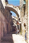 Click here to enlarge image and see more about item p4632: Jerusalem Israel  View of Via Dolorosa Postcard p4632