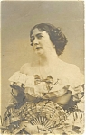Vintage Portrait of Lady Real Photo Postcard