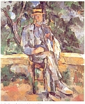 Click here to enlarge image and see more about item p4655: Paul Cezanne Artwork Postcard p4655