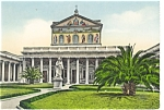 Click here to enlarge image and see more about item p4715: Basilica of St. Paul  Rome Italy  Postcard p4715