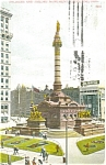 Click here to enlarge image and see more about item p4718: Cleveland Ohio Soldiers Monument  Postcard