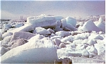 Click here to enlarge image and see more about item p4720: Ice on the Moose River Ontario Canada Postcard p4720