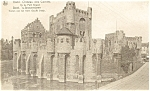 Click here to enlarge image and see more about item p4722: Gand Chateau des Comies Gent Belgium Postcard p4722