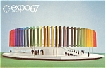 Click here to enlarge image and see more about item p4726: Expo 67 Kaleidoscope Pavilion Postcard