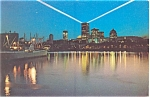 Click here to enlarge image and see more about item p4733: Montreal Canada Skyline at Night  Postcard p4733