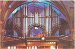 Click here to enlarge image and see more about item p4734: Montreal Notre Dame Organ  Postcard