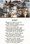 Click here to enlarge image and see more about item p4751: Sunset Poem  Postcard p4751