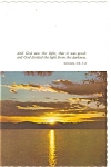 Click here to enlarge image and see more about item p4752: Sunrise with Verse from Genesis  Postcard