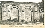 Click here to enlarge image and see more about item p4758: Langres France Gallo-roman gate Postcard