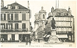 Langres France Diderot Place Postcard p4761