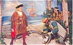 Click here to enlarge image and see more about item p4784: Columbus Discovers America Postcard p4784