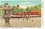 Click here to enlarge image and see more about item p4791: Itsukushima Shrine Japan Postcard p4791