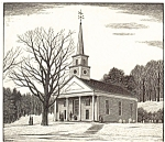 Click here to enlarge image and see more about item p4950: Sturbridge MA Meeting House Postcard p4950