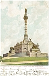 Click here to enlarge image and see more about item p4966: Cleveland OH Cuyahoga Monument Postcard